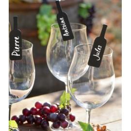 Ardoises bouteille de vin sur pince déco les 6