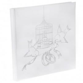 Livre d'or mariage cage et oiseaux