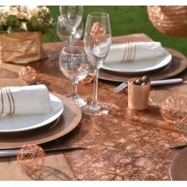 Chemin de table végétal cuivre 5 M