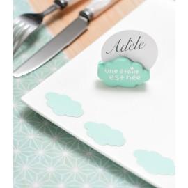 Confettis de table nuage menthe les 50