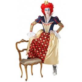 Déguisement reine rouge d'Alice aux pays des merveilles femme
