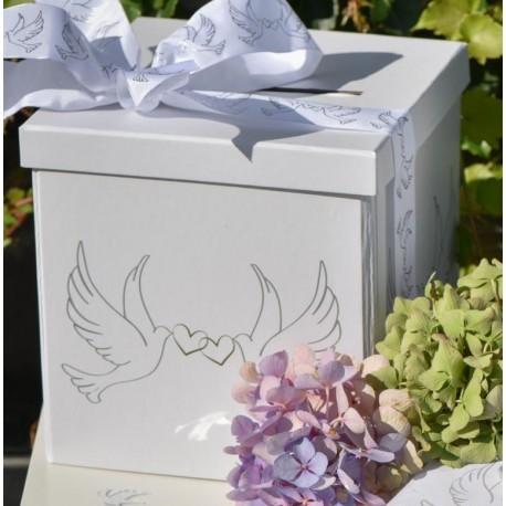 Tirelire colombes carton 20 cm