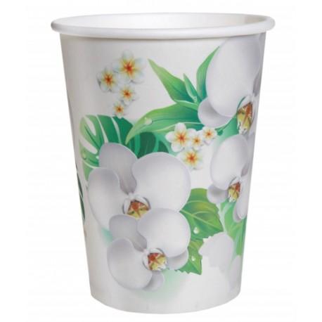 Gobelet carton orchidée les 10
