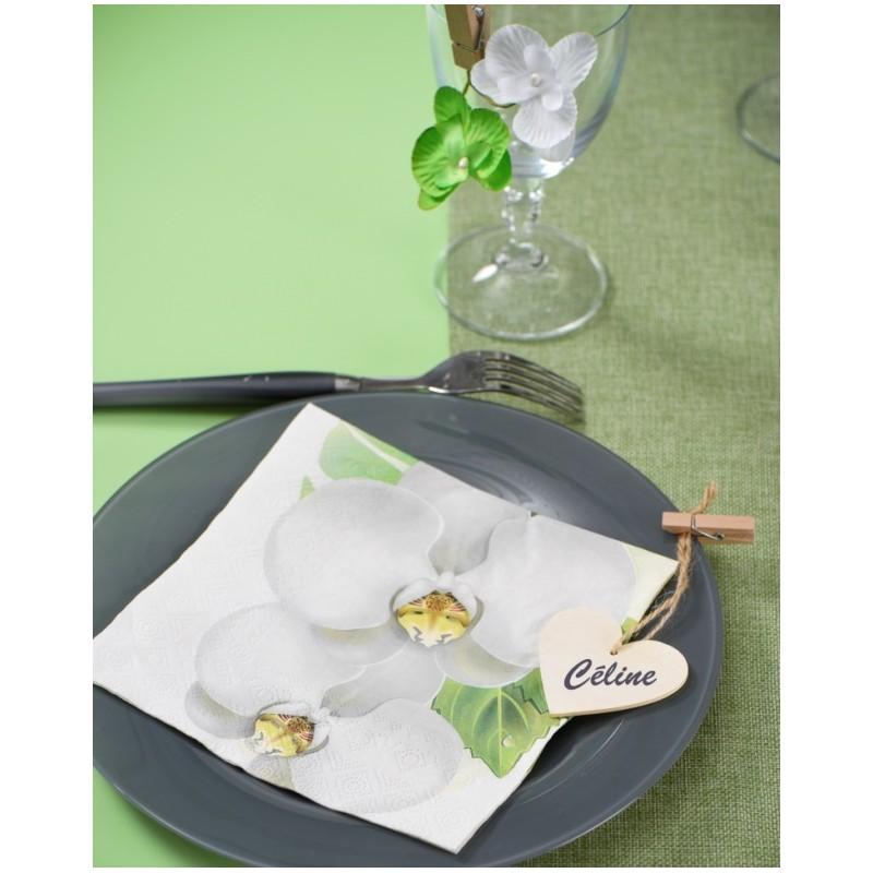 serviette de table orchid e papier les 20 serviettes papier orchid e. Black Bedroom Furniture Sets. Home Design Ideas