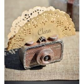Marque-place appareil photo vintage