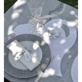 Set de table coeur blanc intissé les 50
