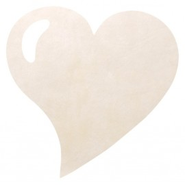 Set de table coeur ivoire intissé les 50