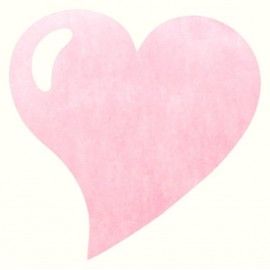 Set de table coeur rose intissé les 50