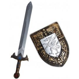 Bouclier chevalier et épée chevalier enfant