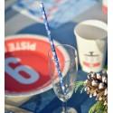 Pailles bleues à flocons de neige en papier les 20