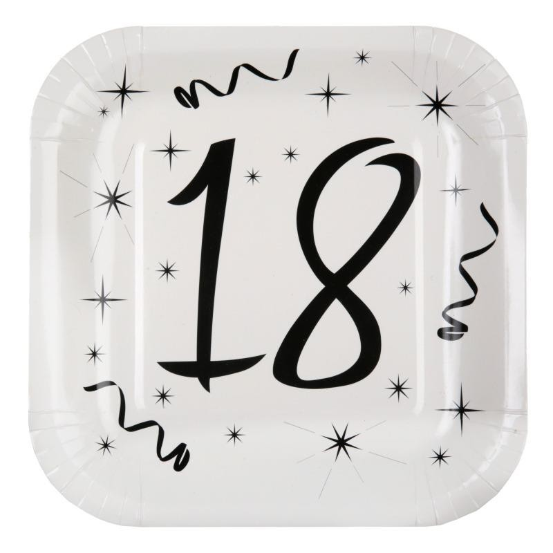 Populaire Assiette carton anniversaire 18 ans les 10 : déco anniversaire 18 ans AA65