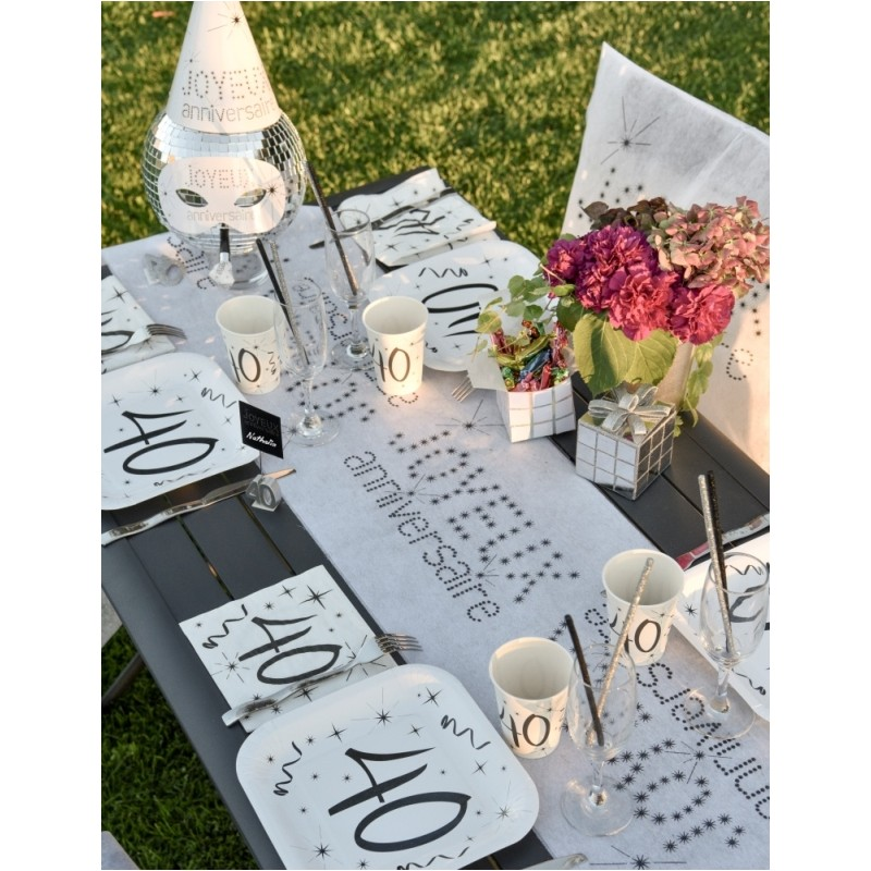 assiette carton anniversaire 18 ans les 10 d co. Black Bedroom Furniture Sets. Home Design Ideas