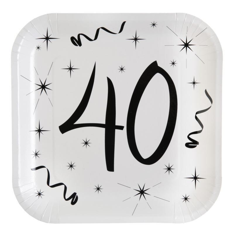 assiette carton anniversaire 40 ans les 10 d co anniversaire 40 ans. Black Bedroom Furniture Sets. Home Design Ideas