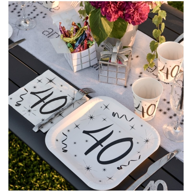 assiette carton anniversaire 40 ans les 10 d co anniversaire 40 ans. Black Bedroom Furniture Sets. Home Design Ideas