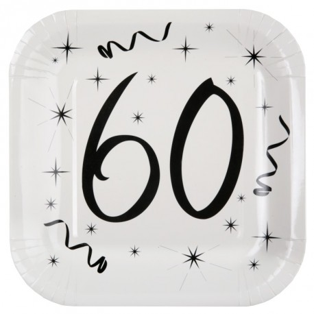 assiette carton anniversaire 60 ans les 10 d co anniversaire 60 ans. Black Bedroom Furniture Sets. Home Design Ideas