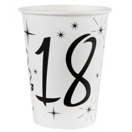 Gobelet carton anniversaire 18 ans les 10