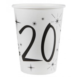 Gobelet carton anniversaire 20 ans les 10