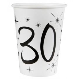 Gobelet carton anniversaire 30 ans les 10