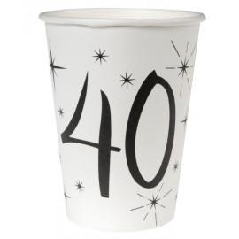 Gobelet carton anniversaire 40 ans les 10