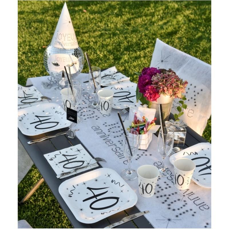 Serviette en papier anniversaire 50 ans les 20 : Serviettes de table