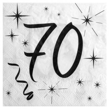 serviette en papier anniversaire 70 ans les 20. Black Bedroom Furniture Sets. Home Design Ideas