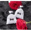 Sachets à dragées coton blanc personnalisables les 6