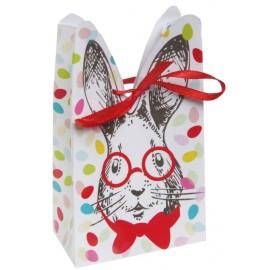 Boîte lapin de Pâques en carton les 4