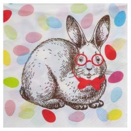 Serviette en papier lapin de Pâques les 20