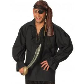 Déguisement chemise pirate noire homme