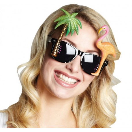 Lunettes Beach party hawaïennes adulte