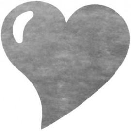 Set de table coeur gris intissé les 50