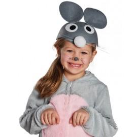 Chapeau souris grise enfant