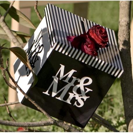 Tirelire mariage Mr & Mrs carton 20 cm