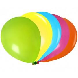 Ballons multicolores 23 cm les 25