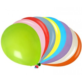Ballons multicolores 23 cm les 50
