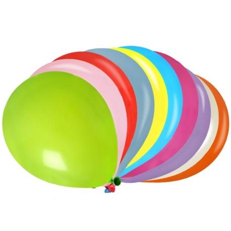 Ballons multicolores 23 cm les 100