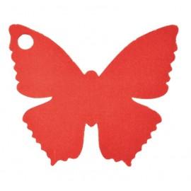 Etiquettes papillon rouge les 10
