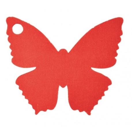 Etiquette papillon rouge les 10