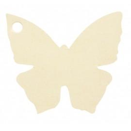 Etiquettes papillon ivoire les 10