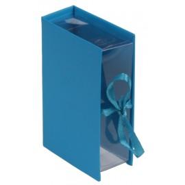 Boîte à dragées livre turquoise les 4