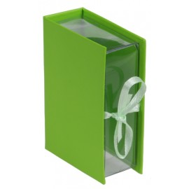 Boîte à dragées livre vert les 4