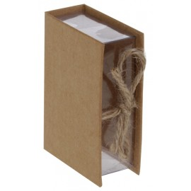 Boîte à dragées livre kraft naturel les 4