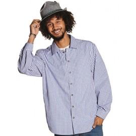 Déguisement chemise vichy bleu homme