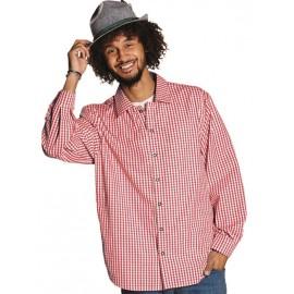 Déguisement chemise vichy rouge homme