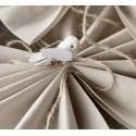 Mini oiseaux en lin ivoire sur pince les 2