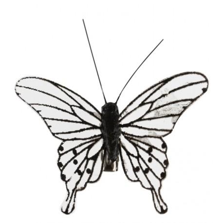 Papillon noir transparent sur pince les 4