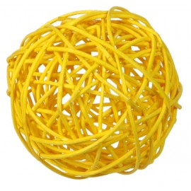 Boule rotin jaune assortis les 10