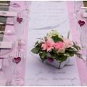 Chemin de table intissé rose 10 M x 60 cm