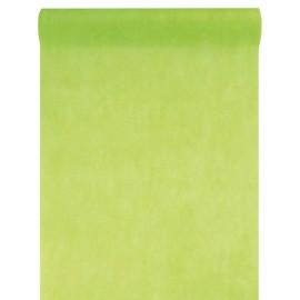 Chemin de table intissé vert anis 10 M x 60 cm