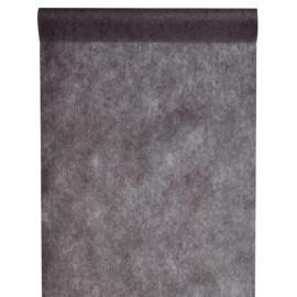 Chemin de table intissé noir 10 M x 60 cm